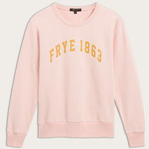 Frye NWT Silver Pink 1863 Logo Cotton Sweatshirt